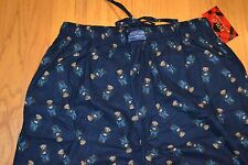 Men's Polo Ralph Lauren Sleepwear Bear Print Flannel Pajamas Pants Size: Medium