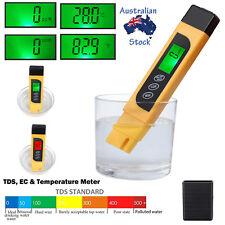 Digital TDS EC TEMP Meter Tester Portable Water Aquarium Pool Test Pen Kit 3 IN1