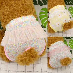 Female Dog Diapers Underwear Cat Pet Shorts Sanitary Pants Cloth Nappy Covers