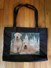 Large waterproof purse tote handbag book bag Soft coated wheaten terrier dog new