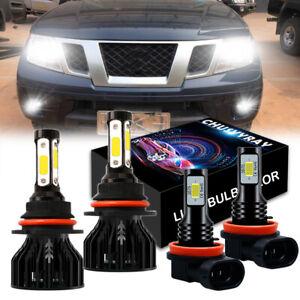 For Nissan Frontier 2005 2006- 2018 2019 4X Car LED Headlight Bulbs Fog Lights