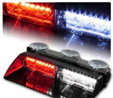 Car 16 LED Red/White Police Strobe Flash Light Dash Emergency Flashing Light