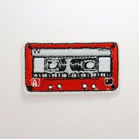 Cassette Patch - Iron On Badge Embroidered Motif - Tape Retro Old School #281