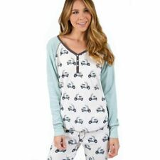 """New PJ SALVAGE """"Wild Ride"""" Soft Cozy Thermal Pajamas M Henley Top and Pants"""