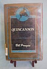 Quincannon Ser.: Quincannon Bk. 1 by Bill Pronzini (1985, Hardcover)