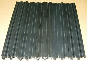 """AFX (10) 15"""" Straight Track Tomy AW Auto World Racemasters Pieces HO AFX70600"""
