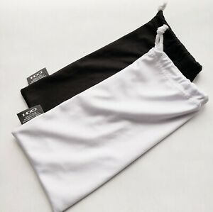 OAKLEY 2 PACK - LARGE BLACK & WHITE MICRO FIBER CLOTH SUNGLASSES CLEANING BAGS