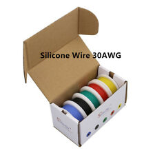 50m 30AWG Flexible Silicone Wire 5 color Mix box 1 Copper Electrical RC Cable