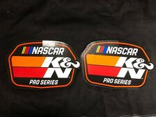 K&N NASCAR PRO SERIES Pair of Stickers!!  FREE SHIPPING!!!!