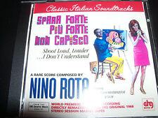 Spara Forte Piu Forte Non Capisco Shout Louder Soundtrack CD Nino Rota - New