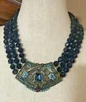 Heidi Daus Antoinette Beaded Multi-Strand Necklace NWT RET $250 Dramatic!!