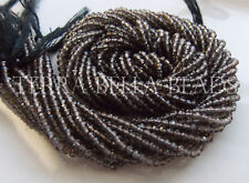 """12.5"""" strand AAA SMOKY QUARTZ faceted gem stone rondelle beads 2mm brown"""