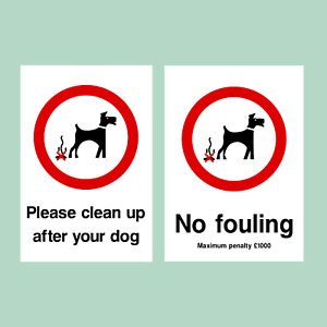 No Fouling / Please Clean Up Dog - All Materials - Sign / Sticker