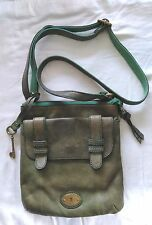 Green Leather FOSSIL CROSSBODY Bag Purse