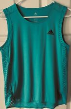 eUc ADIDAS teal turquoise climalite Tank Top Size Med