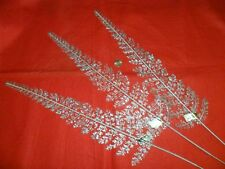 Vintage Plastic Fern leaves - Silver Mica