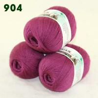 Sale Lot of 3 Balls x50gr LACE Soft Acrylic Wool Cashmere hand knitting Yarn 904