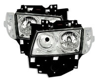 Chrome clear finish ANGEL EYES HEADLIGHTS SET with markers for VW T4 BUS 96-03