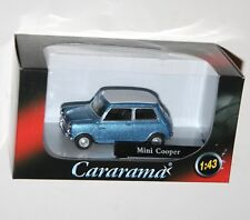 Cararama - MINI COOPER (Blue + White Roof) Die Cast Model Car Scale 1:43
