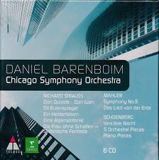 Daniel Barenboim Chicago Symphony Orchestra CD NEW Mahler Schoenberg Strauss