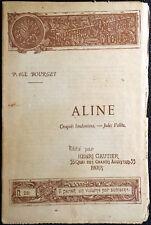 Paul Bourget, Aline, Ed. Henri Gautier, 1891