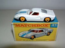 * 1960s MATCHBOX TOY # 41 FORD G.T. MINT IN THE BOX