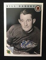 BILL GADSBY 1992 ULTIMATE AUTOGRAPHED SIGNED AUTO HOCKEY NHL CARD EMBOSSED 69