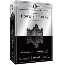 Downton Abbey PBS Series Complete Seasons 1 2 3 4 5 Limited Edition DVD Box Set!