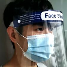 5 Packs Clear Facial Shield Dust Proof Full Face Cover Production Safety Work &