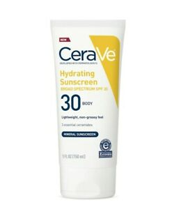 CeraVe 100% Mineral Sunscreen SPF 30 Body Hydrating Sunscreen 5 oz