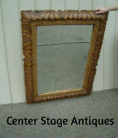59973 Large Mirror in Fancy Carved Wood Picture Frame