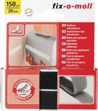 Klettverschlussband Adhesive Touch Fastener Self Adhesive Black 1500x20mm New