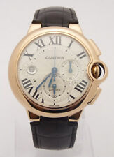 CARTIER Ballon Bleu Men's Watch 44mm W6920074 18K Rose Gold  Alligator Leather