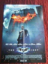 "THE DARK KNIGHT  "" DOUBLE SIDED PULL- OUT ""  POSTER  -  CHRISTIAN BALE- LEDGER"