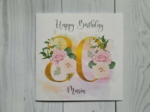 Age 80 Birthday, 80th, Birthday card, personalised, free postage