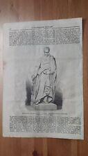 1873 Illustrazione Popolare: Monumento a Silvio Pellico a Saluzzo op. Simonetta