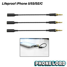LIFEPROOF iPhone 5 5S SE case Waterproof headphone adapter AUX jack cable 3 PACK