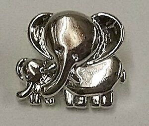 Metallic Silver Elephant Buttons - Choice of Pack Size
