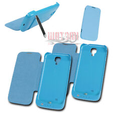 2X 3500MAH EXTERNAL BATTERY CHARGER CASE COVER BLUE FOR GALAXY S4 GT-I9500