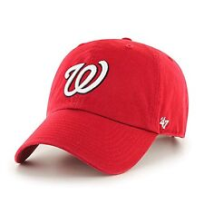 Washington Nationals 47 Brand Clean Up Adjustable Field Classic Red Hat Cap MLB