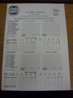 28/07/1993 Cricket Scorecard: Lancashire v Australia  [At Old Trafford] . Any fa