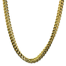 18K Gold Plated Franco Box Cuban Chain 8mm x 30 inches Stainless Steel