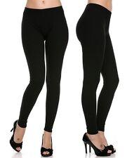 Soft Solid Black High Waist Leggings Yoga Dance Skinny Slim Active wear Pants