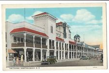 Vintage Postcard Hampton Beach NH Casino Ballroom Cars WB