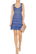 NWT Herve Leger Jacquard-Knit Bandage Dress - Size M - Ret. $1750