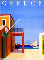 Greece Greek Isles Europe European Vintage Travel Advertisement Art Poster