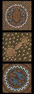 Ngurambang Collection Panel-Echidna and Ant- Australian Aboriginal 100% Cotton