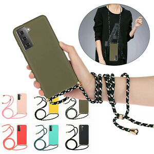 Neck Rope Soft TPU Shockproof Phone Case for Samsung Galaxy S20 S21 Ultra S20 FE