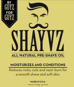Shayvz All Natural Pre shave oil