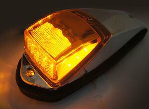 5 x LED Roof Cab Lights Clear/Amber,Bus,Kenworth,Freightliner,Western star,Truck
